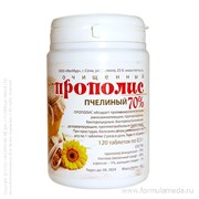 Прополис очищенный 70% в таблетках 60 МЕЛМУР продукция пчеловодства в официальном интернет-магазине ФОРМУЛА МЁДА 203-100-08 01
