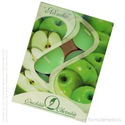 Яблоко ароматическая свеча в гильзе 6 шт ОМСКИЙ СВЕЧНОЙ в официальном интернет-магазине ФОРМУЛА МЁДА 401-029-14 01